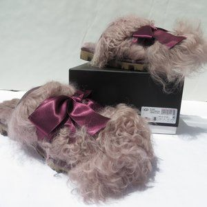 UGG Classic Coquette Mongolian Slippers 7 NEW PORT